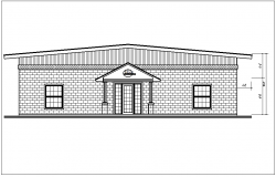 Elevation view of house detail dwg file