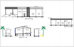 Elevation with different axis  view for industries building dwg file