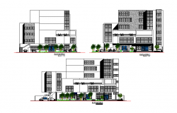 Elevation working detail dwg file