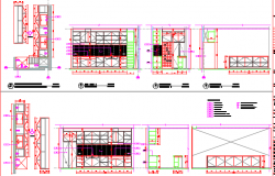 Elevations of a kitchen