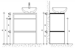 Elevations of countertop in dwg file