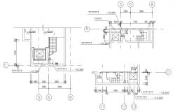 Elevator and Staircase Plan CAD File