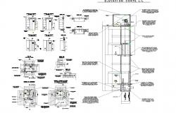 Elevator dwg autocad file elevation detail