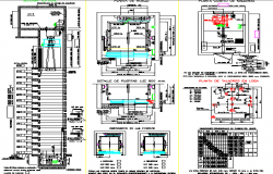 Elevator installation details of hospital dwg file