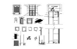 Elevator section, plan and installation auto-cad details dwg file