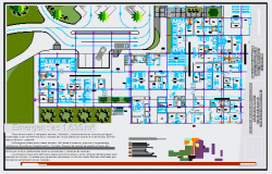 Emergency area design drawing in Hospital building design drawing