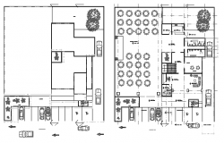 Engineer association building floor plan details dwg file