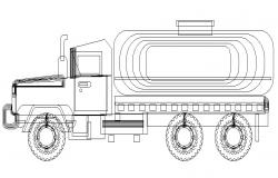 Engineering truck vehicle block cad drawing details dwg file