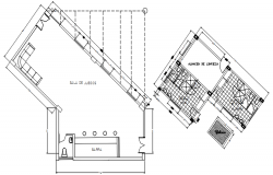 Enlarge plan of the reception area of the hotel