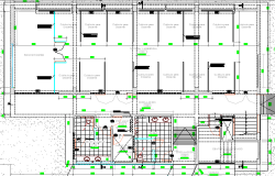 Enlargement of school architecture layout plan dwg file
