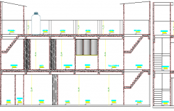 Entire House Project Design and Elevation Details dwg file