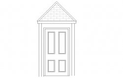 Entrance detailing elevation design of a door