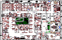 Equipment Placement in Clinic Architecture Layout dwg file