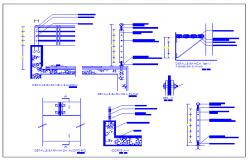Equipment details of public garden dwg file