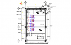 Equipment installation detail autocad file