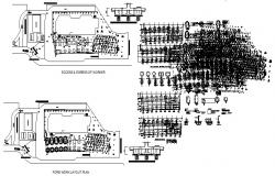 Equipment layout plan of shophouse with detail dimension in dwg file
