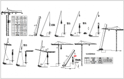 Erection view  method of tower crane