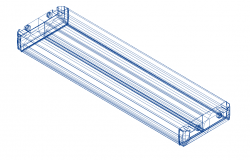 Excise_LED_medium electrical design 3d wire frame view dwg file