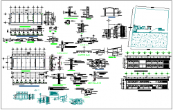 Executive project of classrooms of school dwg file