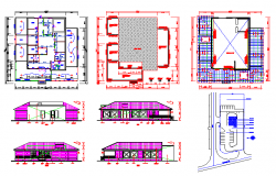 Existing building architectural design with all detail