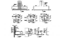 Expansion Joint  With Water proofing Drawing AutoCAD file
