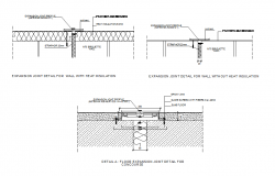 Expansion joint detail for concourse dwg file