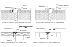 Expansion joint detail section plan dwg file