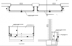 Exterior railing construction details dwg file