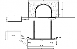 Exterior wall detailing  elevation dwg file