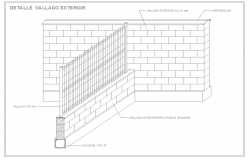 Exterior wall fence design