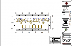 External consultation sectional area of hospital dwg file