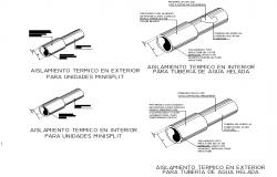 External thermal insulation for mini spilt units detail dwg file