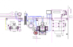 Extraction cooker gas plan detail dwg file