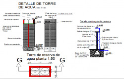 Extreme water tower architecture project dwg file