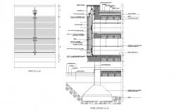 Façade structure plan detail dwg.
