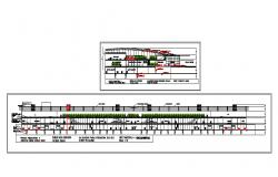 Facade and cut sectional details of airport cad drawing details dwg file