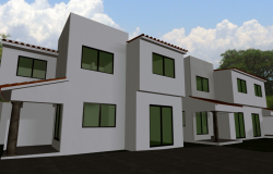 Facade condo minimum 3 D homes 2 story plan