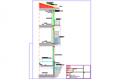 Facade section, balcony section details