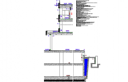 Facade section plan detail dwg file