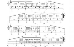 Factory Building Elevation Free CAD Drawing