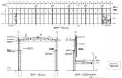 Factory Section With Working Drawing PDF File