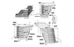 False ceiling constructive structure cad drawing details dwg file