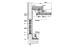 Concrete Wall Section Free AutoCAD Drawings