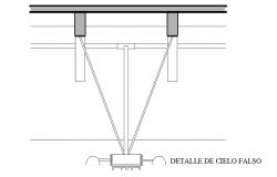 False ceiling detail view dwg file