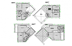 False ceiling floor plan dwg file