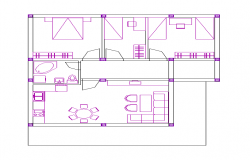 Family House Floor Plan In AutoCAD File