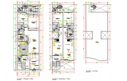 Family house full project plan autocad file