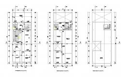 Family house in lima plan autocad file