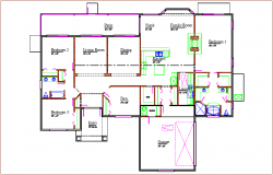Family house plan dwg file