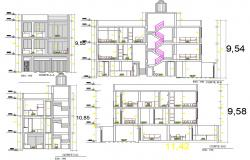 Family house plan with detail dimension in autocad